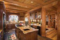 Дизайн кухни в деревянном доме 1