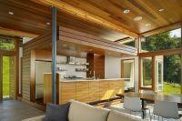 Дизайн кухни в деревянном доме 3