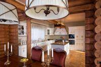 Дизайн кухни в деревянном доме 4