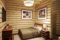 интерьер спальни в деревянном доме 2