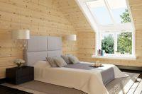 интерьер спальни в деревянном доме 7