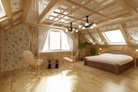 интерьер спальни в деревянном доме 8
