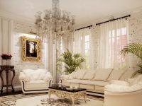 Интерьер зала в частном доме2