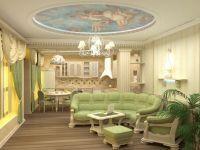Интерьер зала в частном доме5