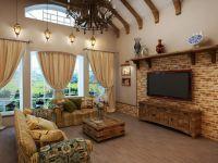 Интерьер зала в частном доме8