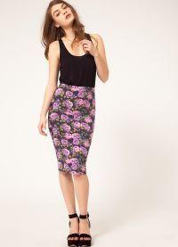 Юбки с цветочным принтом 2013 4