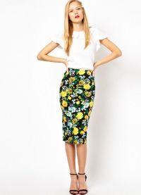 Юбки с цветочным принтом 2013 6