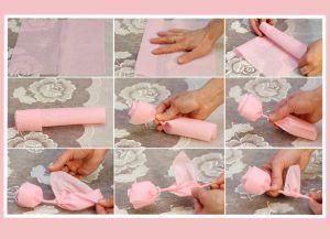 Как красиво сложить бумажные салфетки 1