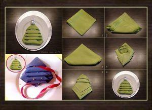 Как красиво сложить бумажные салфетки 2
