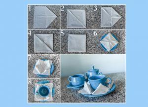 Как красиво сложить бумажные салфетки 4