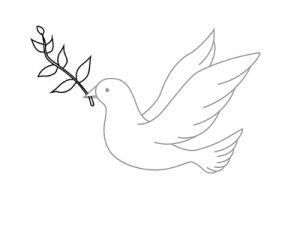 Как поэтапно нарисовать карандашом голубя детям 5