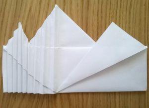 Как сложить бумажные салфетки для сервировки стола 9