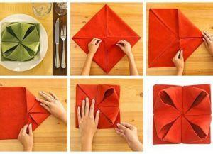 как сложить салфетку на праздничный стол 6