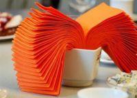 как сложить салфетку на праздничный стол 11