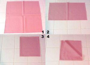как украсить стол салфетками 7
