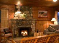 Камин в деревянном доме9