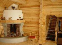 Камин в деревянном доме3