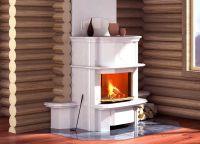 Камин в деревянном доме4