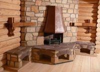Камин в деревянном доме6