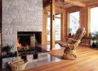 Камин в деревянном доме8