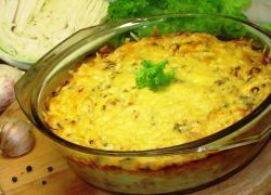 капустная запеканка с сыром в духовке