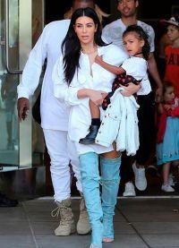 Kim Kardashian și fiica ei de Nord