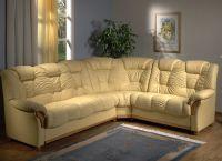 Кожаный угловой диван2