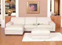 Кожаный угловой диван3