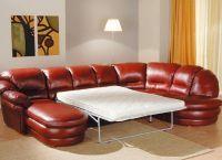 Кожаный угловой диван5