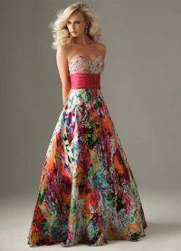 красивые вечерние платья в пол 2014 4