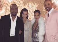 Kim Kardashian și soțul ei Will Smith și soția sa