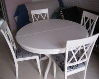 Круглый раздвижной стол для кухни3