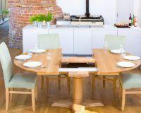 Круглый раздвижной стол для кухни6
