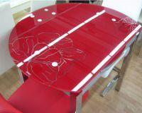 Круглый раздвижной стол для кухни8
