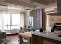 Кухня с балконом объединение дизайн2