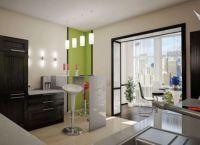 Кухня с балконом объединение дизайн3
