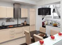 Кухня с балконом объединение дизайн5