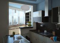 Кухня с балконом объединение дизайн8