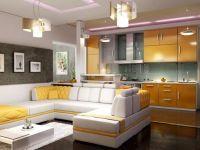 Кухня - студия в частном доме3