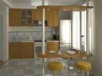 кухня студия с барной стойкой2