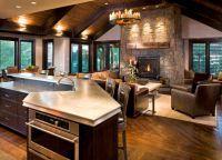 Кухня в частном доме3