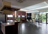Кухня в частном доме4