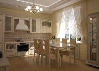 Кухня в частном доме5