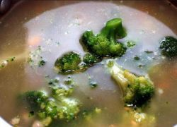 суп куриный с капустой брокколи