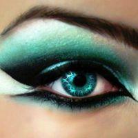красивый легкий макияж для зеленых глаз 9