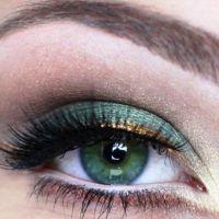 красивый легкий макияж для зеленых глаз 2