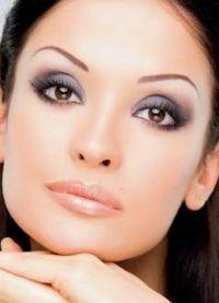 макияж для больших карих глаз 1