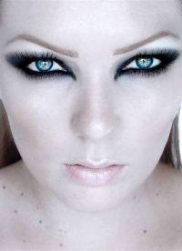 макияж кошачий глаз3