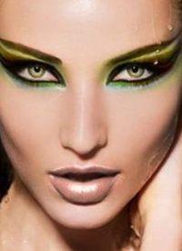 макияж кошачий глаз5