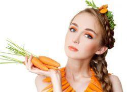 Маска от моркови от акне